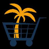 Palme im Einkaufswagen